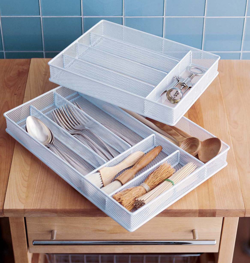 Accessoires de rangement cuisine ustensiles et couverts for Rangement meuble cuisine accessoires
