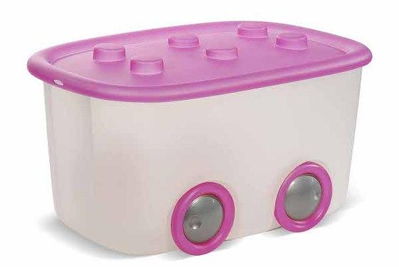 Des boites de rangement qui affichent leurs couleurs - Caisse a roulette enfant ...