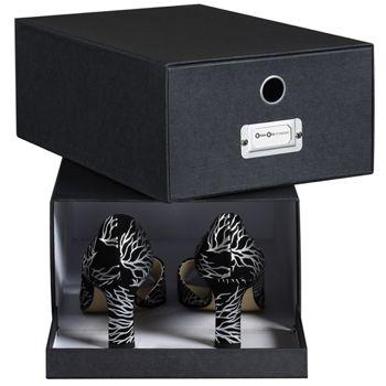 Boite à chaussures élégante en carton recyclé, boite de rangement pour dressing et placards