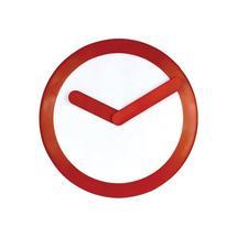 L'horloge design rouge