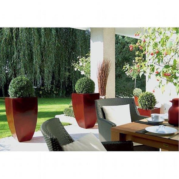 bac fleurs lumineux pour terrasses et soir es. Black Bedroom Furniture Sets. Home Design Ideas