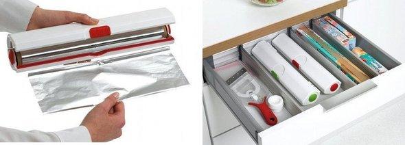 D rouleur de cuisine le coupe film alimentaire ind pendant - Distributeur de rouleaux de papier cuisine ...
