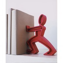 Serre-livre design rouge