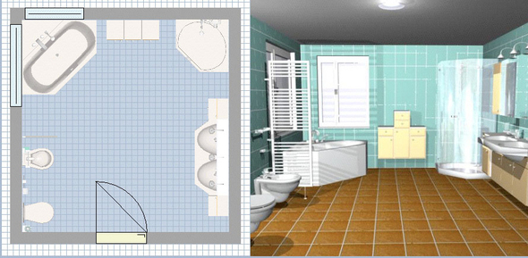 photo amenager sa salle de bain en 3d