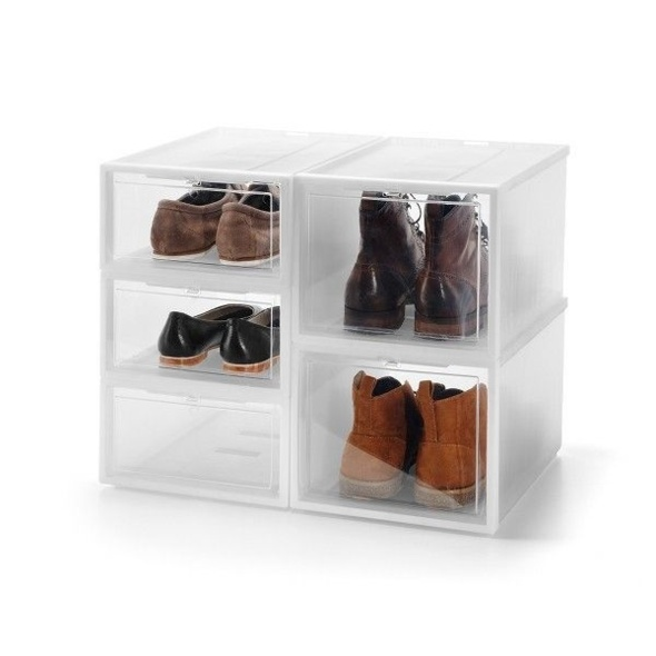 chaussures rangement boite carton. Black Bedroom Furniture Sets. Home Design Ideas