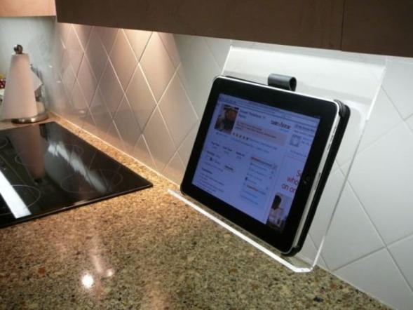Présentoir Ipad pour cuisine