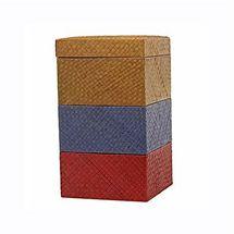 Pack de boites de rangement esthétique en bambou