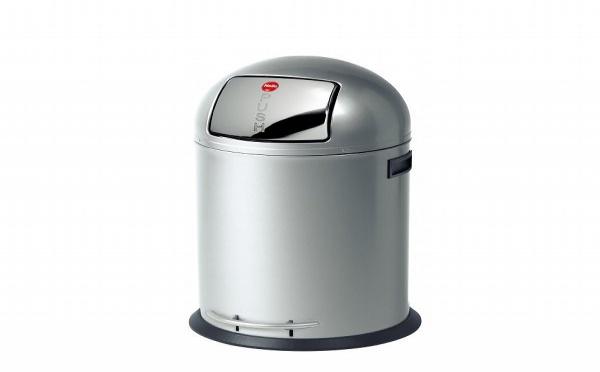 Une poubelle inox de 35 litres