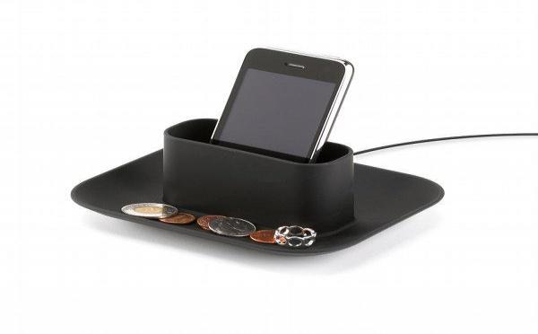 Support chargeur pour iPhone et vide poche design