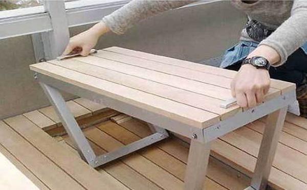 Table et banc pliants : la solution de rangement optimale