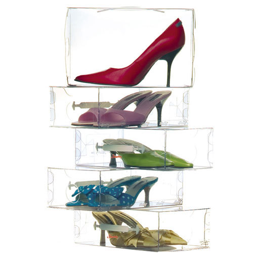 Boite à chaussures transparente