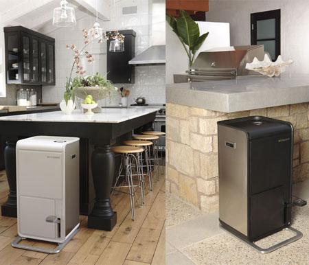 poubelle de cuisine pour le recyclage, poubelle desing de cuisine, poubelle inox, poubelle métail poubelle pour compacter les bouteilles