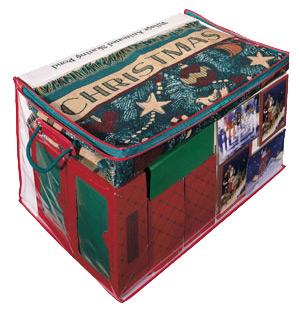 Rangement décorations de Noël, boite de rangement accessoires de Noel, rangement transparent Noel