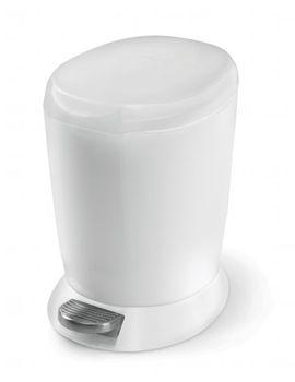poubelle de salle de bain design blanche, poubelle de salle de bain à pédale Thisga