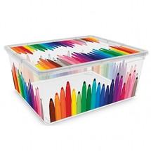 une boite jouets et une boite crayon pleines de couleurs. Black Bedroom Furniture Sets. Home Design Ideas