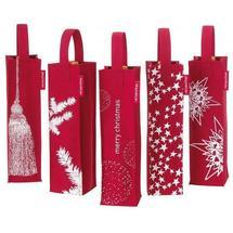 Sac à bouteille Noël rouge