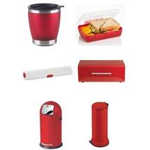 Des accessoires de cuisine rouges ? Rangement cuisine