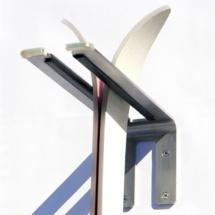 Un rangement pour 2 paires de skis