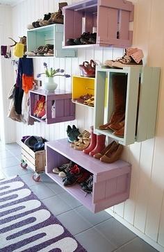 Casier en bois pour chaussures
