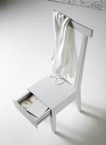 chaise, chaîse, tiroir de rangement, rangement original chambre