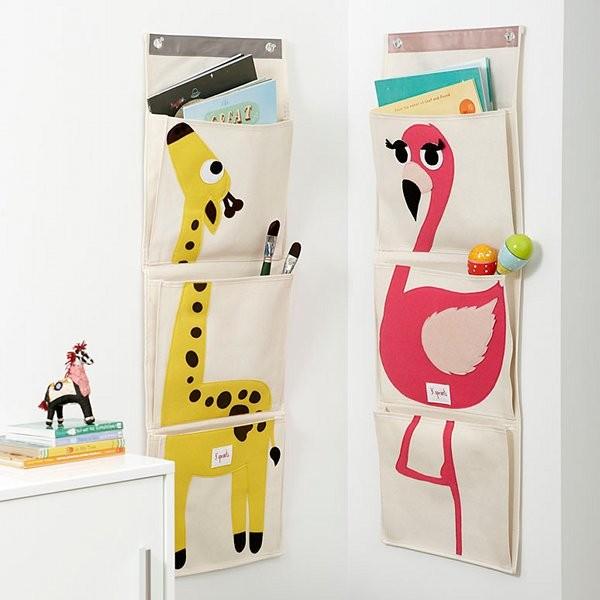 Rangement mural girafe