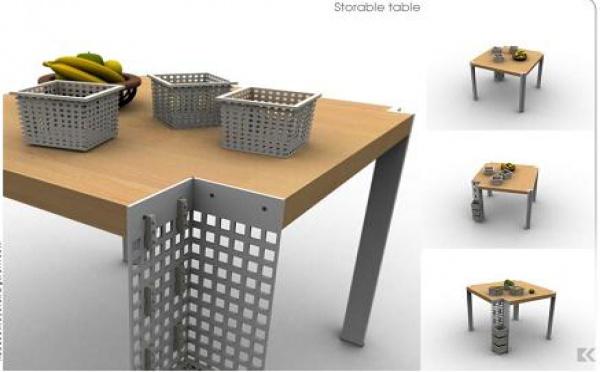 La table de rangement à paniers intégrés : une nouvelle aide dans la cuisine...