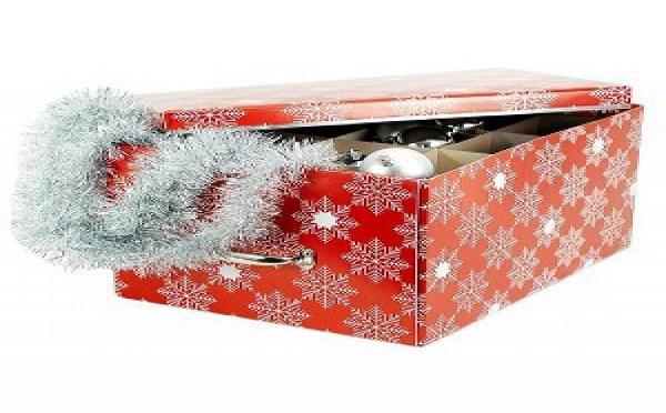 Décoration de Noël : une boite de rangement pour les boules et accessoires de Noël